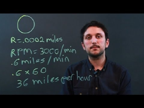 How to Convert RPM to MPH Using Math : Measurement Conversions