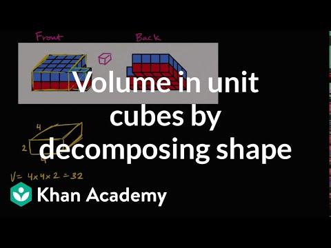Volume in unit cubes by decomposing shape | Measurement and data | 5th grade | Khan Academy
