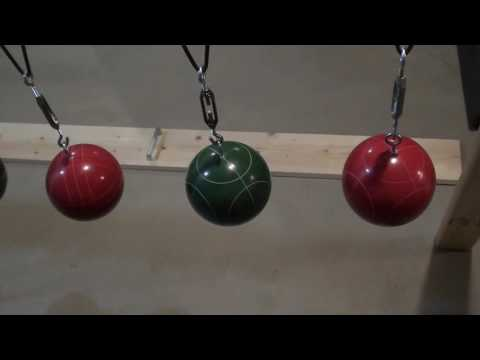 How to Build a Pendulum Snake Wave Machine from Bocce Balls