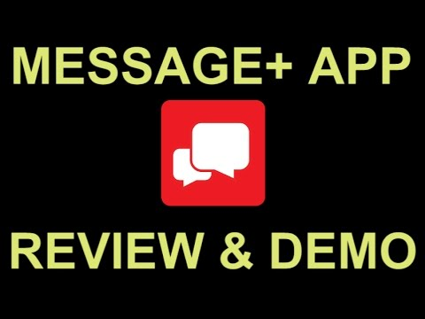 Verizon Messages SMS Text Messaging App with Tablet PC Sync - Review and Demo