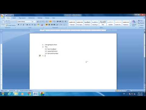 How to adjust space between numbering and text in Microsoft word | how to add numbers in MS word