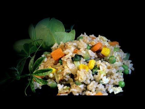 Sweet Corn Egg Fried Rice Recipe (Chinese Vegetarian Recipe)