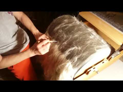 How To Felt Alpaca Fiber | Wet Felting A Hat  (Part 1)