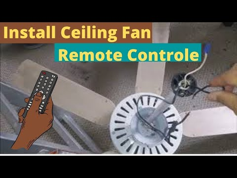 How To Install A Universal Ceiling Fan Remote Control On An Old Fan - Step By Step