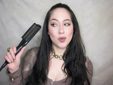 demo; straightening comb review on ethnic hair/ Martino Cartier heat blade straightening comb