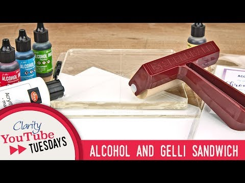Gel Press How To - Alcohol and Gelli Sandwich