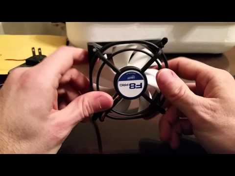 Wire A Computer Fan To Run On Wall Power For Use In An Incubator