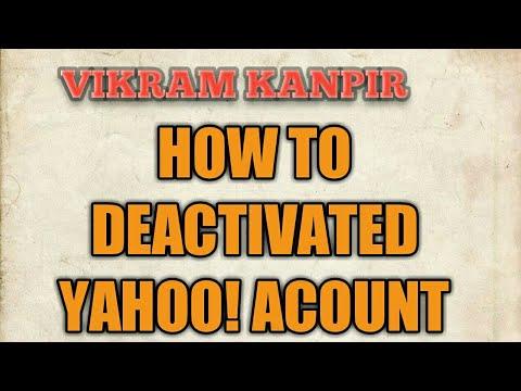 How to delete my yahoo account,remove  yahoo account