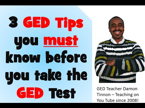 3 GED Tips you must know before you take the test in 2015