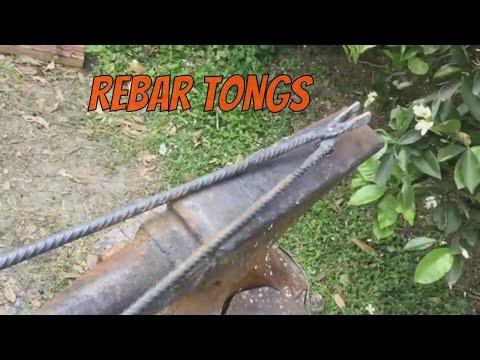 Making Simple Rebar Tongs for Blacksmithing