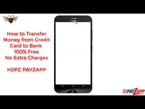 Transfer Money from Credit Card to Bank Account Free  all india