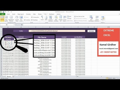 Excel VBA | Get File Names and Details in folders and sub folders