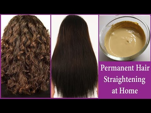 Permanent Smooth Hair Straightening at Home | INSTANT & PERMANENT RESULTS | Get Silky Straight Hair