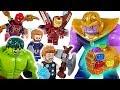 Marvel Lego Infinity War Avengers Hulk Iron Man Spider Man Go Defeat The Thanos DuDuPopTOY