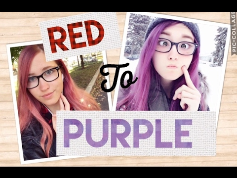 Dyeing My Hair From Red To Purple (Without Bleach)