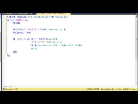 SQL 2012 Update Triggers Lab 2.3