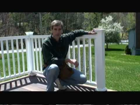 How to Install Composite Deck Railing Video