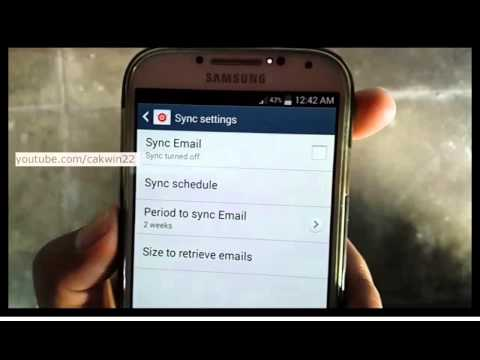 Samsung Galaxy S4 : How to turn on Email Sync (Android Kitkat)
