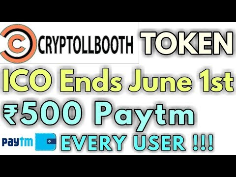 Cryptollbooth ICO - Security Token | Rs.500 Paytm For Every Users