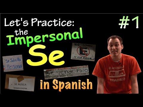 02 Impersonal Se / Passive Se in Spanish - Practice #1
