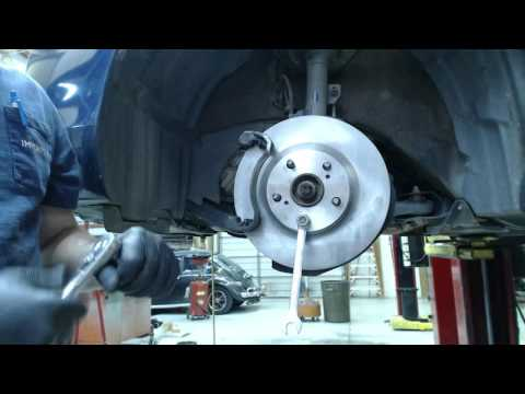 Car Repair Tutorial - 2008 Toyota Camry LE - Front Disc Brake Replacement