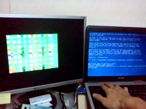 windows xp display driver crash