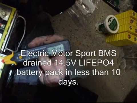 LITHIUM BMS WARNING - Circuit drained LIFEPO4 pack in 10 days