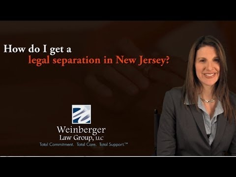 FAQ: How do I get a legal separation in New Jersey?