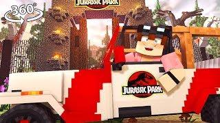 DINOSAURS at Jurassic PARK 360° - Minecraft VR Video