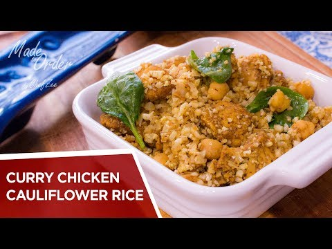 Curry Chicken Cauliflower Rice | Low Carb Recipes | Made To Order | Chef Zee Cooks