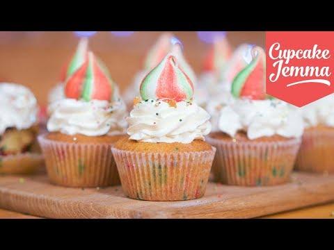 Christmas Unicorn Cupcake Recipe   Cupcake Jemma