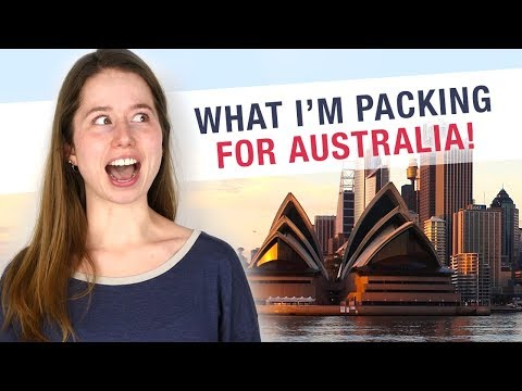 What I'm Taking to Australia for 3 Weeks!