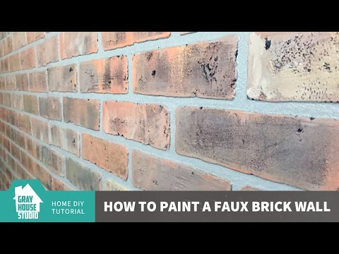 Painting a Faux Brick Wall