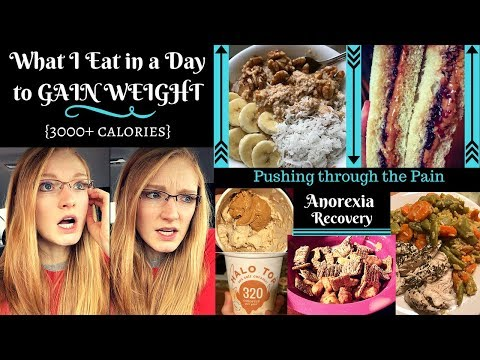 WHAT I EAT IN A DAY // Anorexia Recovery// Pushing through the PAIN + ALOT of CEREAL and ICE CREAM!