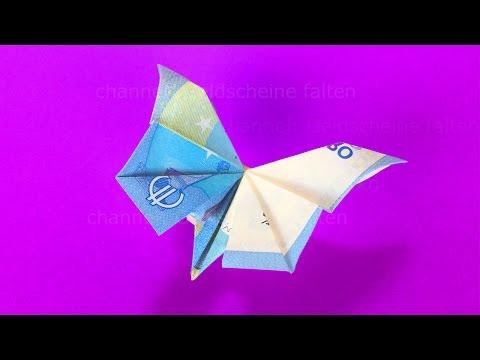 Geldscheine Falten Schmetterling Geldgeschenke Basteln Geld