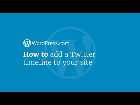 WordPress Tutorial: How to Embed a Twitter Timeline in your Sidebar