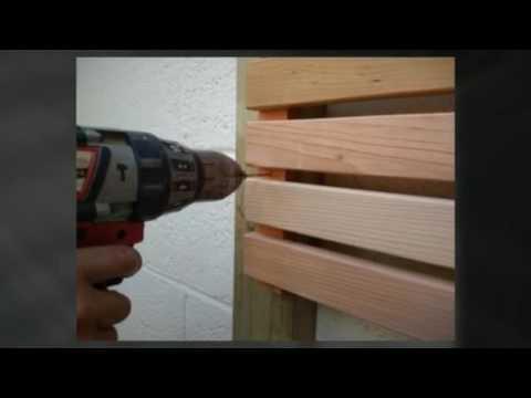 How to build a horizontal cedar slatted fence