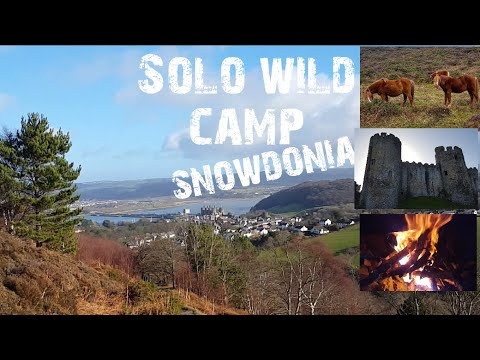 Solo british army bivi bag wild camping overnighter in snowdonia mountain's wales