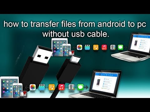 how to transfer files from android to pc without usb cable.