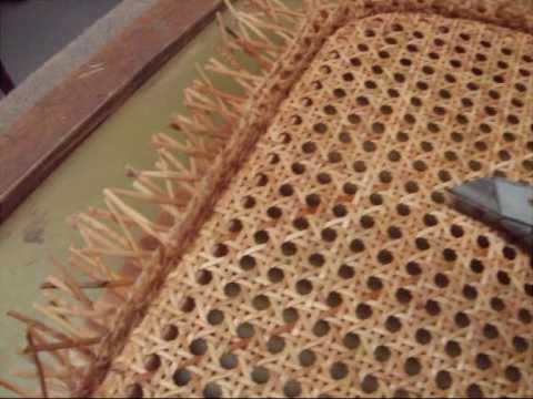 Chair Caning - How To - Pre-woven Pt. 2