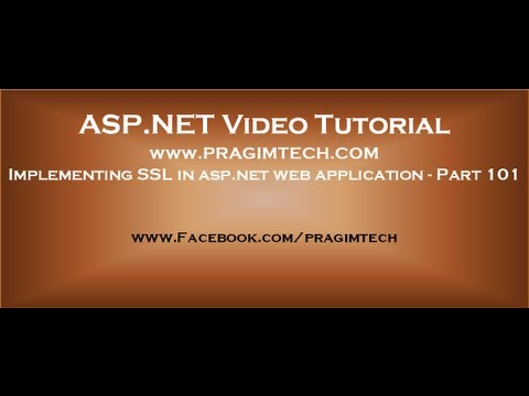 Implementing SSL in asp net web application   Part 101