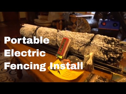 How To Install Portable Electric Chicken Fencing IN THE SNOW!