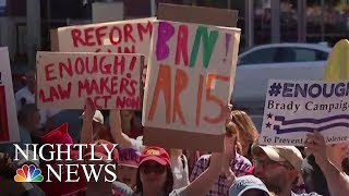 Days After School Shooting in Parkland, Florida, A Gun Show in Miami | NBC Nightly News