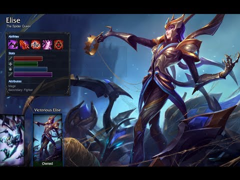 League of Legends [Skin-Preview: Elise] Victorious Elise
