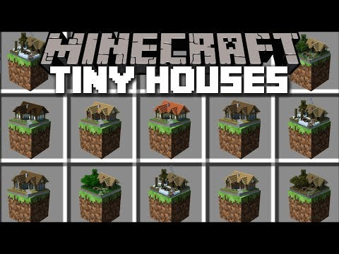 Minecraft MINIATURE HOUSE MOD / PLACE SMALL HOUSES IN MINECRAFT AND LIVE INSIDE THEM!! Minecraft