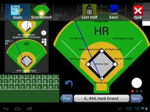 Fixed It! Baseball ScoreBook Mobile Demo