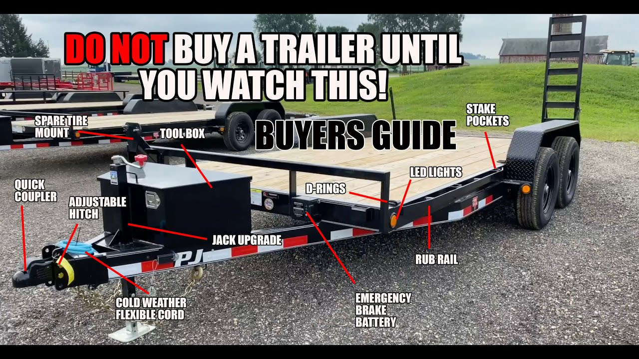 Equipment Trailer Buying Guide - What you need to know