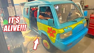 ROTARY Swapped Mystery Machine EP.3 - FIRST START UP!!!! Turbo Rotary Engine Comes to Life!