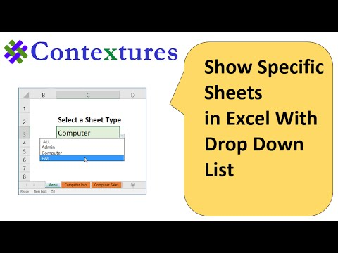 Show Specific Sheets in Excel With Drop Down List