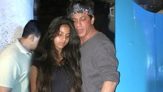 Shahrukh Khan With Beautiful Daughter Suhana Spotted Outside A Restaurant